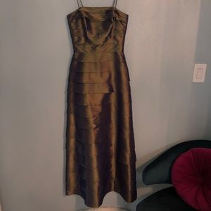 Green/brown layered gown- 90's